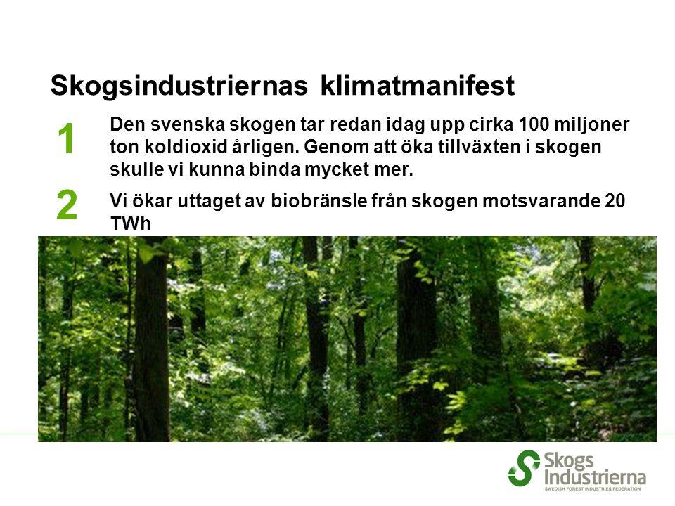 Skogsindustriernas klimatmanifest