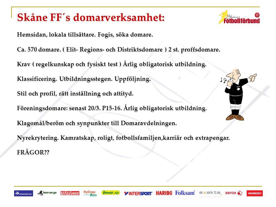 Skåne FF´s domarverksamhet: