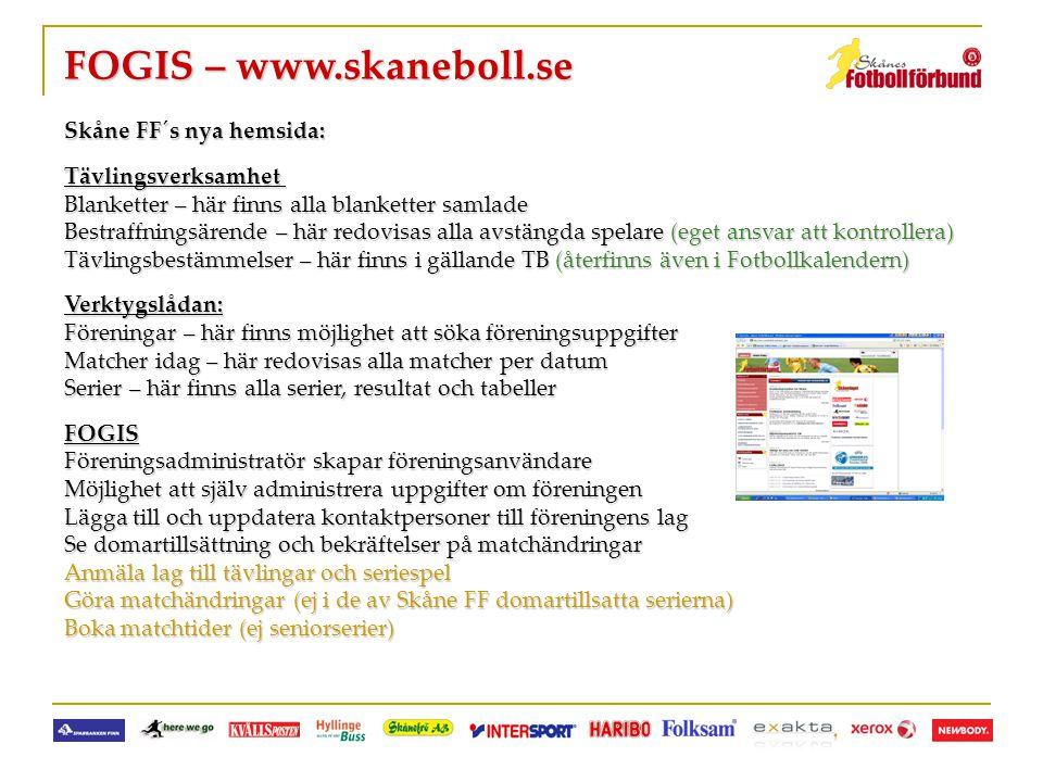 FOGIS – www.skaneboll.se