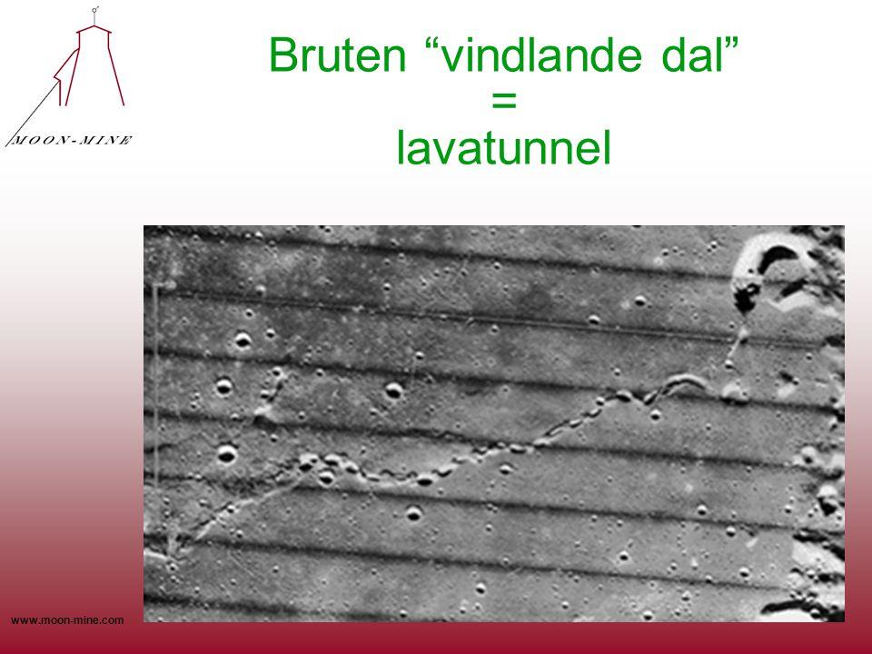 Bruten vindlande dal = lavatunnel