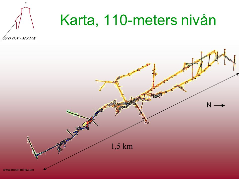 Karta, 110-meters nivån N 1,5 km