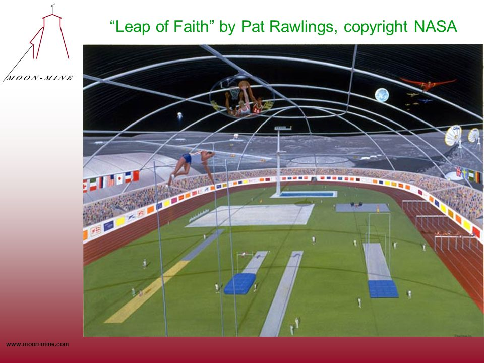 Leap of Faith by Pat Rawlings, copyright NASA