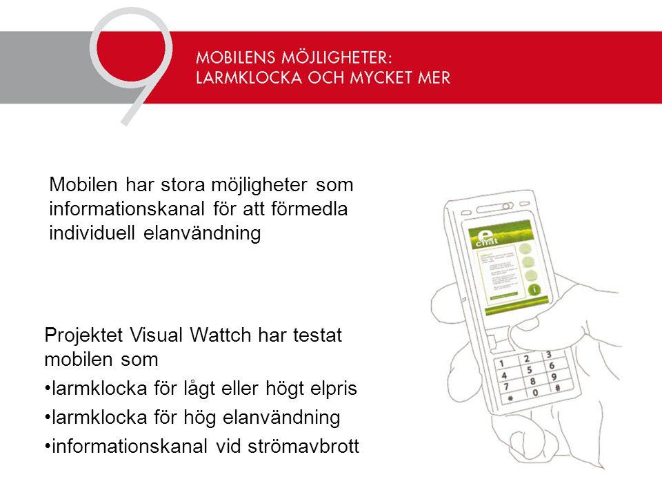 Mobilen har stora möjligheter som informationskanal för att förmedla individuell elanvändning