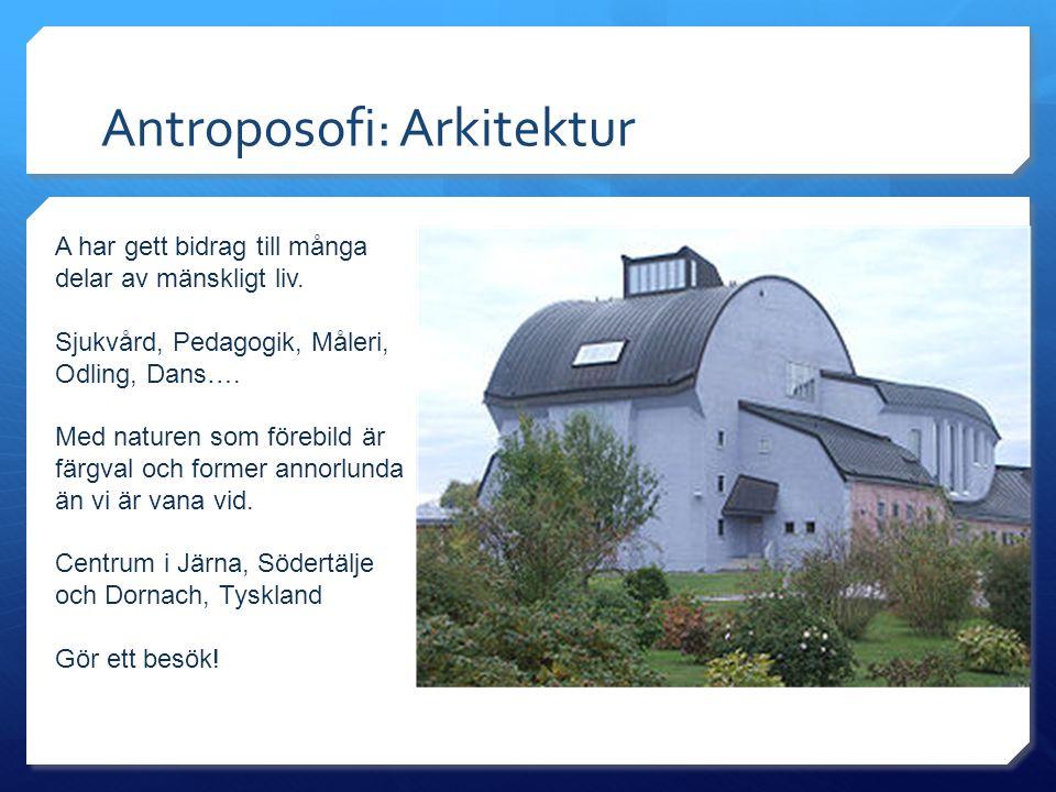 Antroposofi: Arkitektur