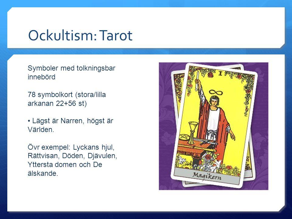 Ockultism: Tarot Symboler med tolkningsbar innebörd