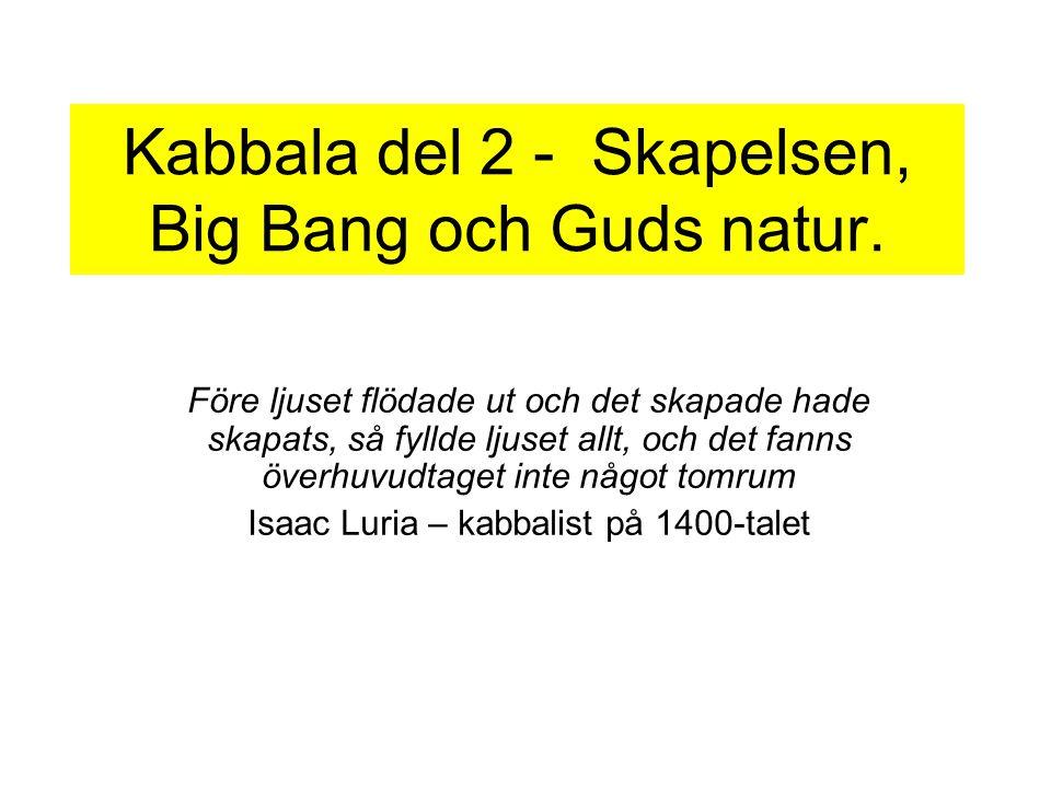 Kabbala del 2 - Skapelsen, Big Bang och Guds natur.