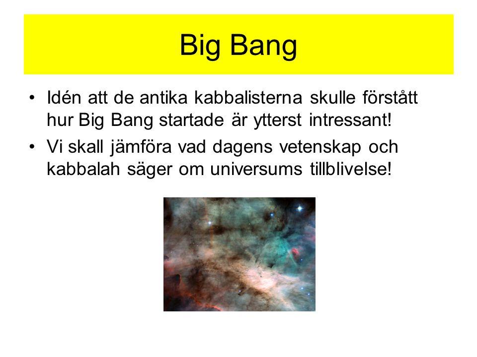 Big Bang Idén att de antika kabbalisterna skulle förstått hur Big Bang startade är ytterst intressant!