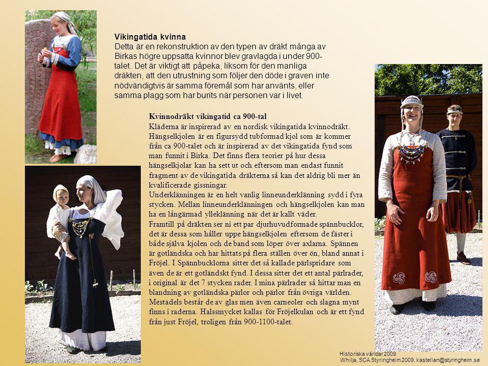 Kvinnodräkt vikingatid ca 900-tal