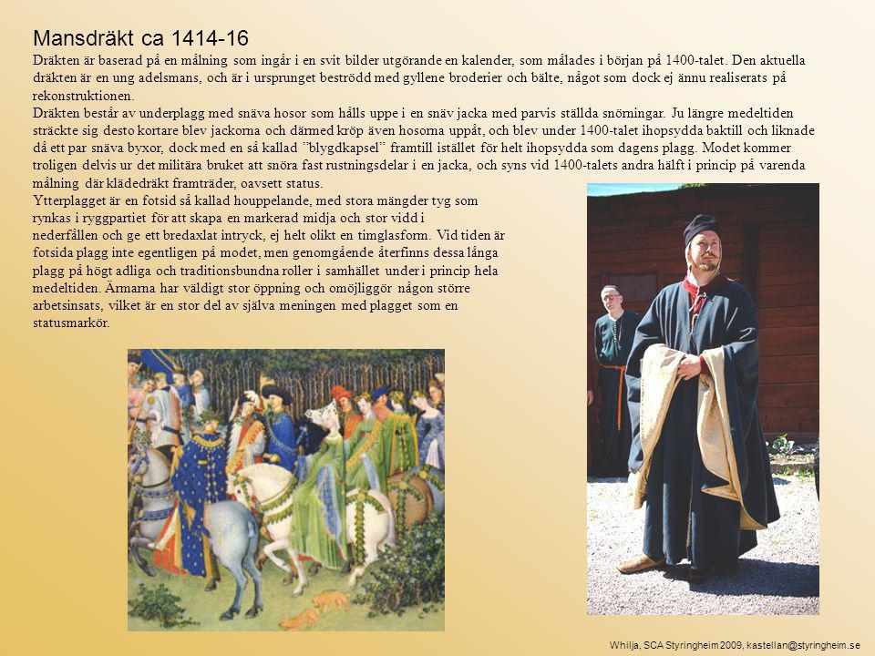 Mansdräkt ca 1414-16