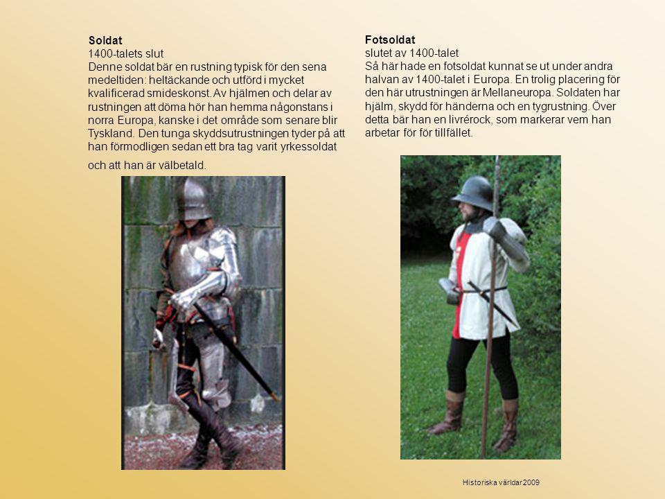 Soldat 1400-talets slut.