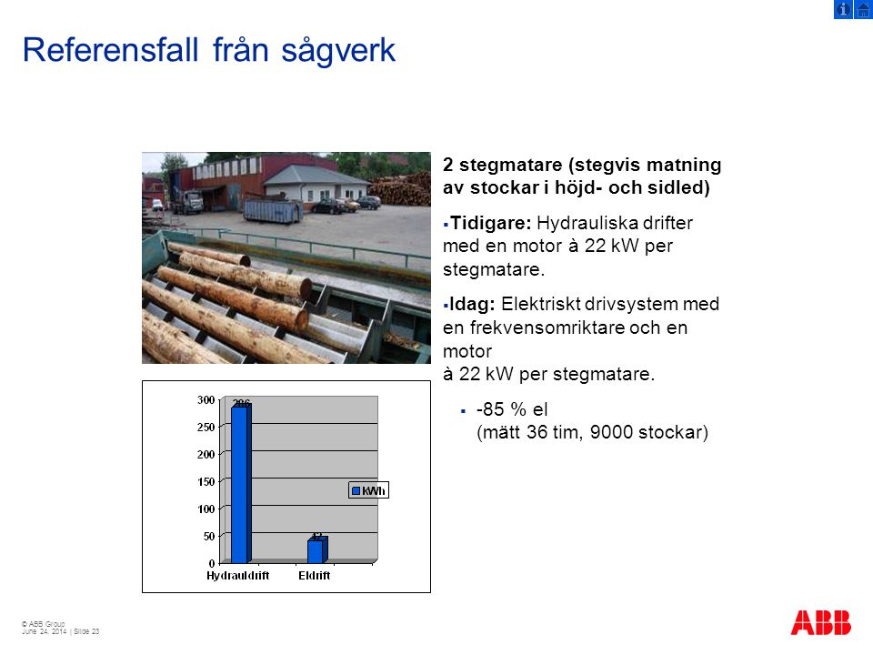 Referensfall från sågverk