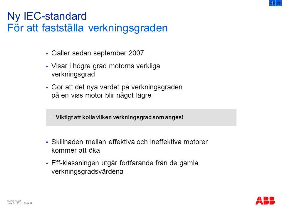 Ny IEC-standard För att fastställa verkningsgraden