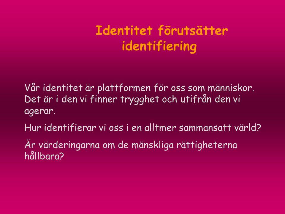 Identitet förutsätter identifiering