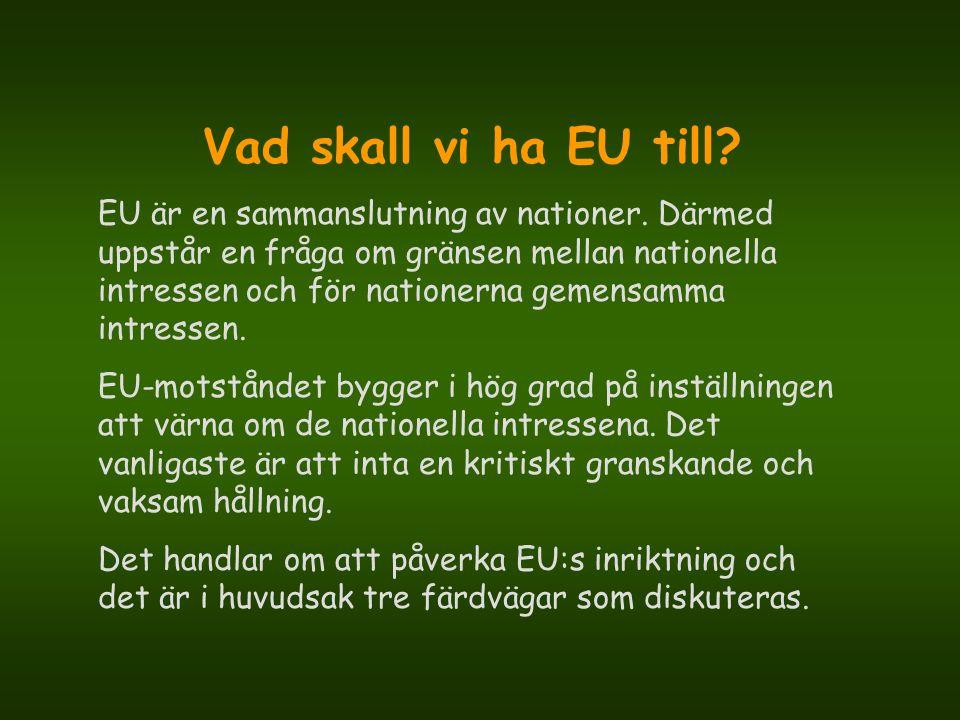 Vad skall vi ha EU till