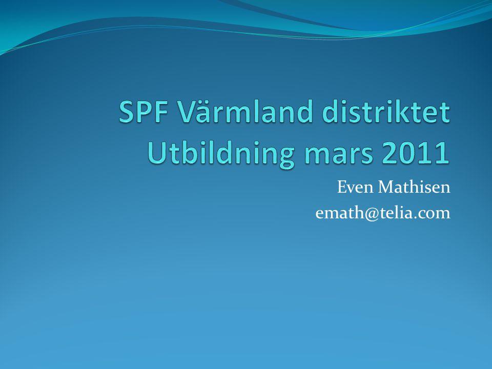 SPF Värmland distriktet Utbildning mars 2011