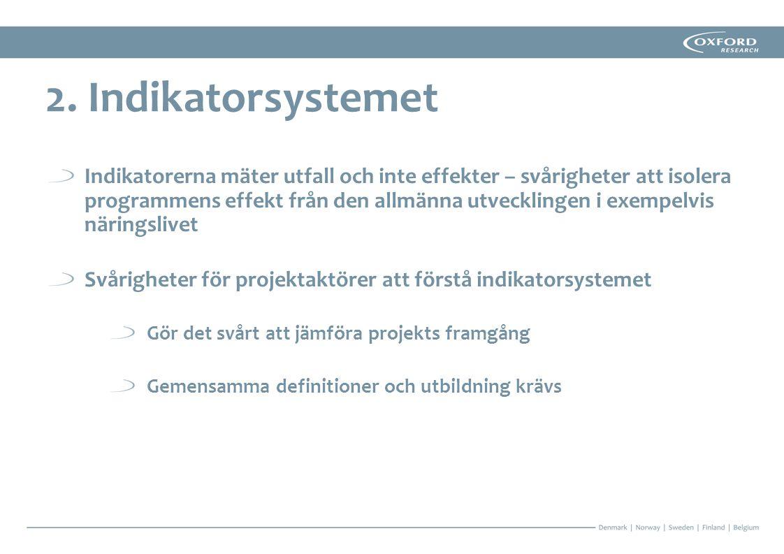 2. Indikatorsystemet