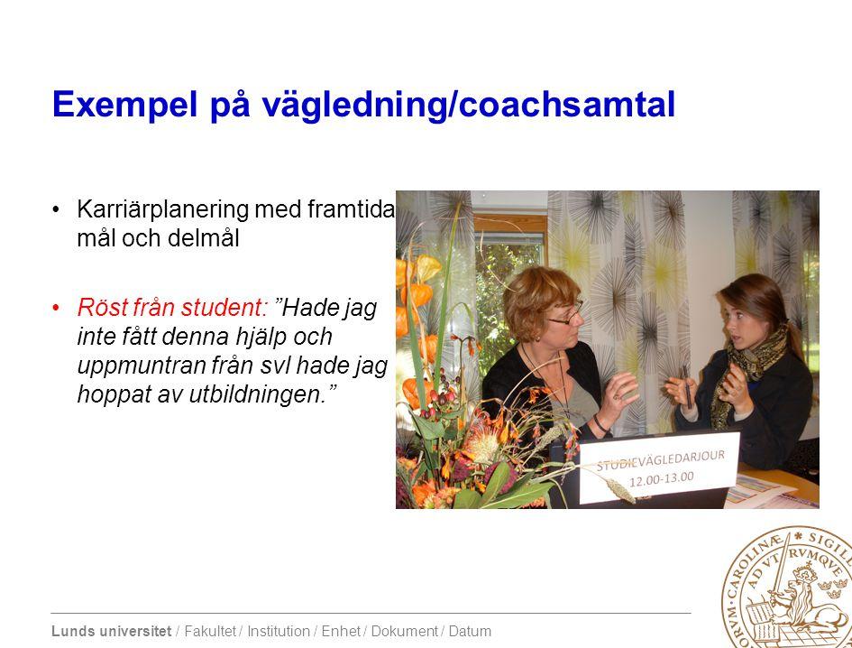 Exempel på vägledning/coachsamtal
