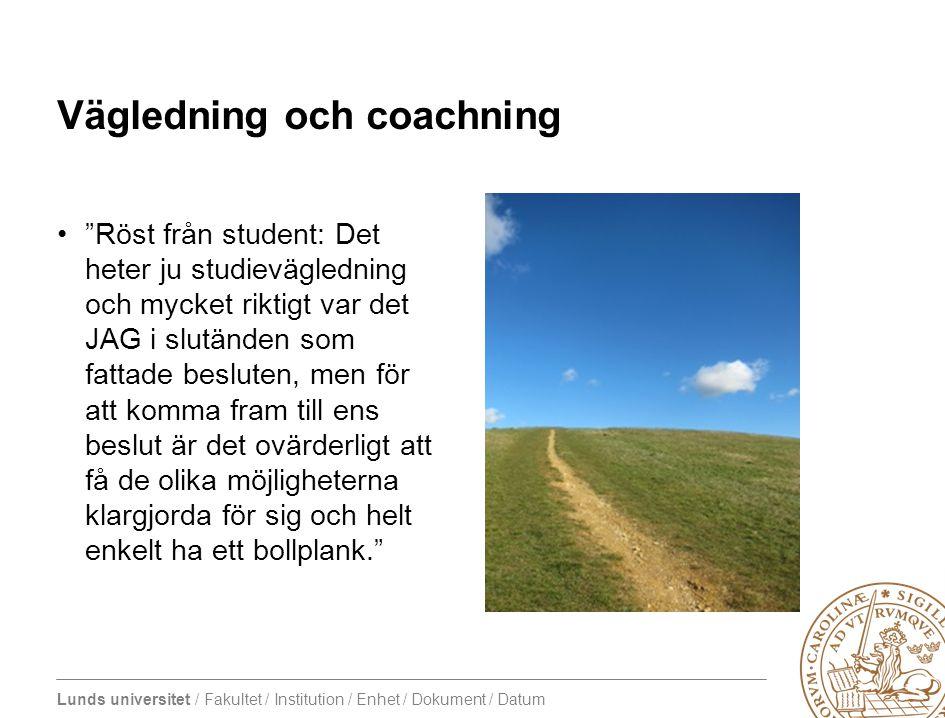Vägledning och coachning