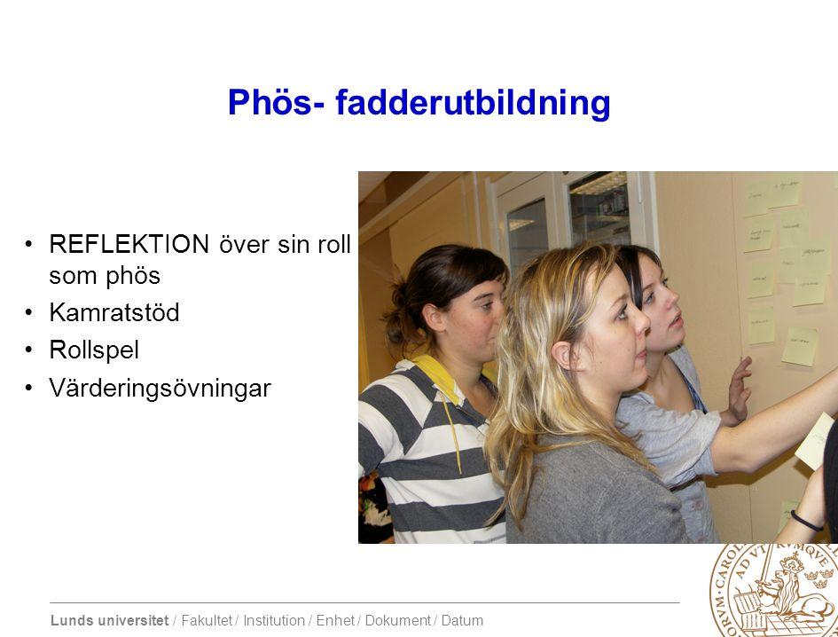 Phös- fadderutbildning