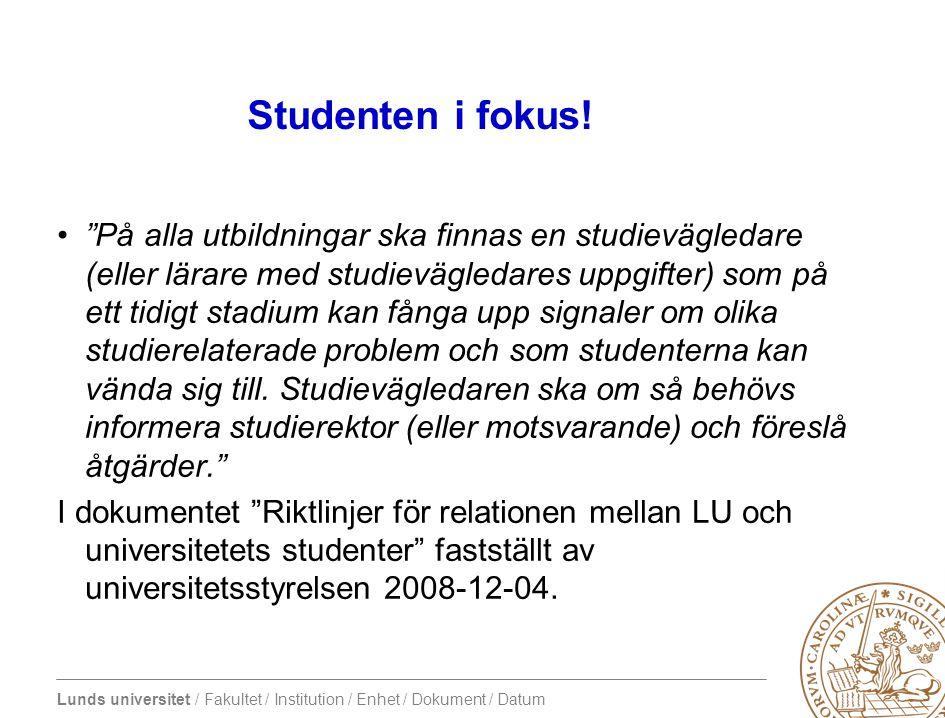 Studenten i fokus!