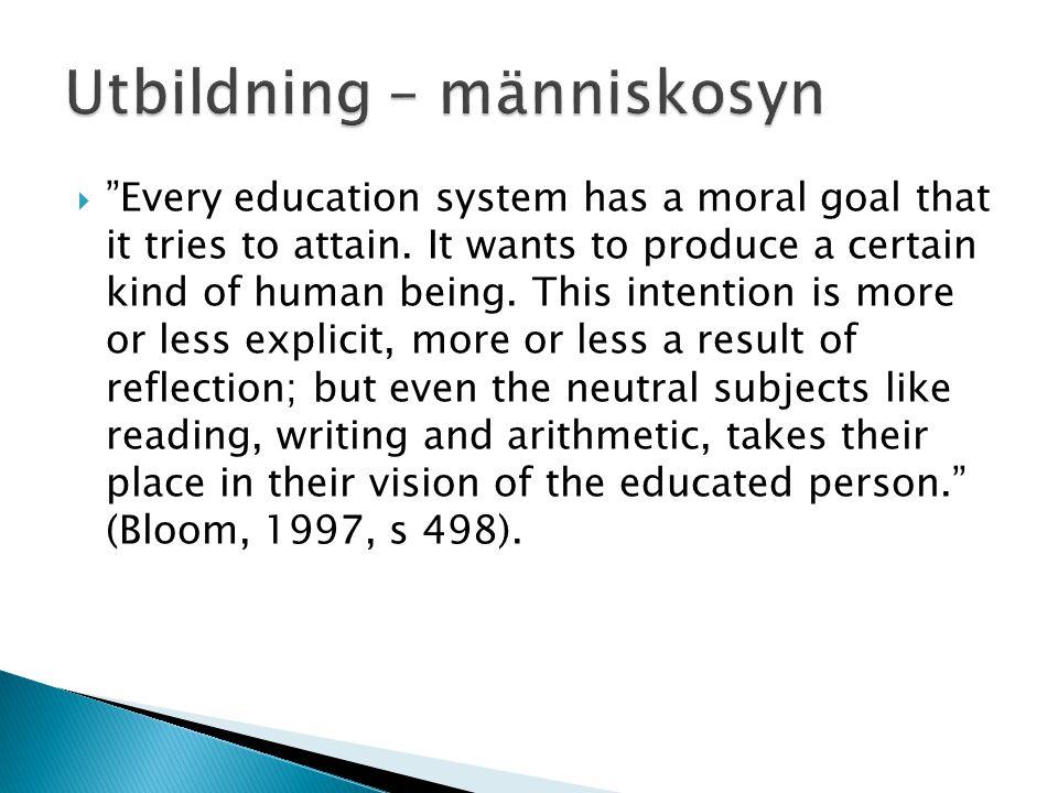Utbildning – människosyn