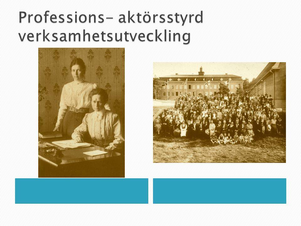 Professions- aktörsstyrd verksamhetsutveckling