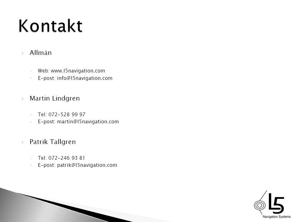Kontakt Allmän Martin Lindgren Patrik Tallgren