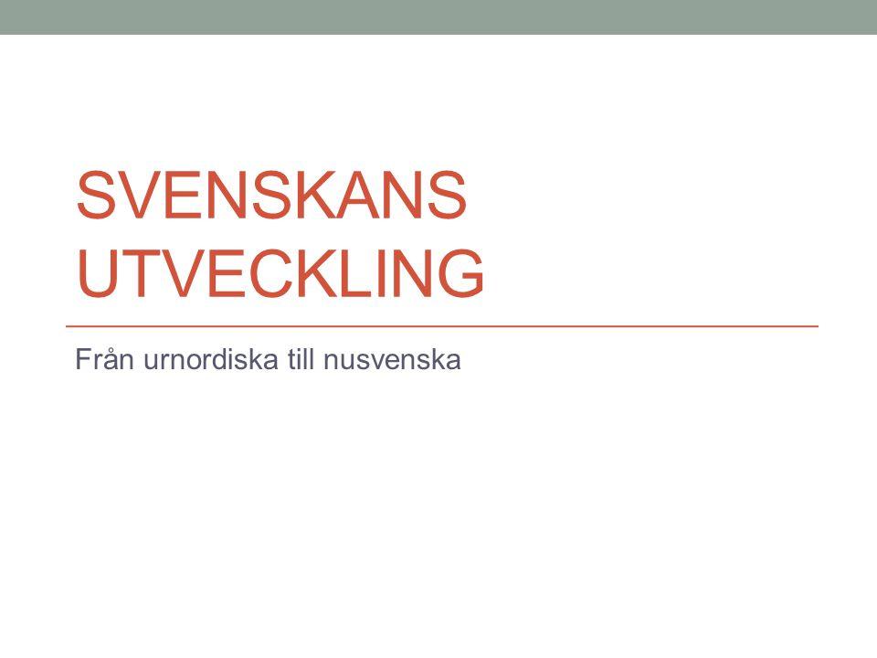 Från urnordiska till nusvenska