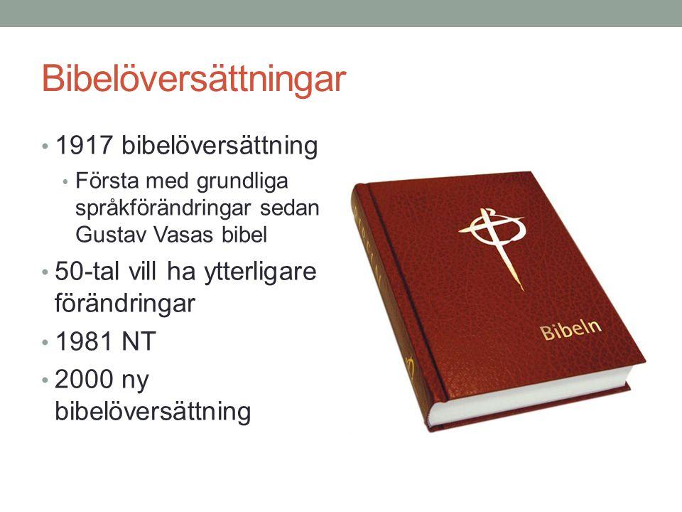 Bibelöversättningar 1917 bibelöversättning