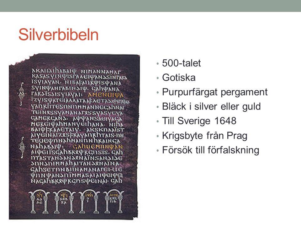 Silverbibeln 500-talet Gotiska Purpurfärgat pergament