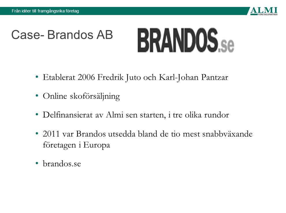 Case- Brandos AB Etablerat 2006 Fredrik Juto och Karl-Johan Pantzar
