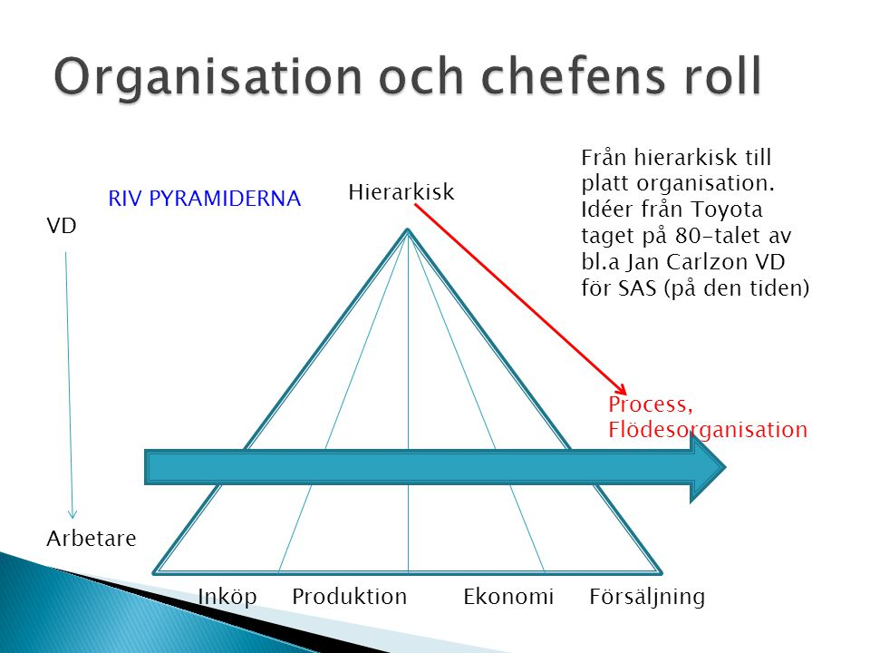 Organisation och chefens roll