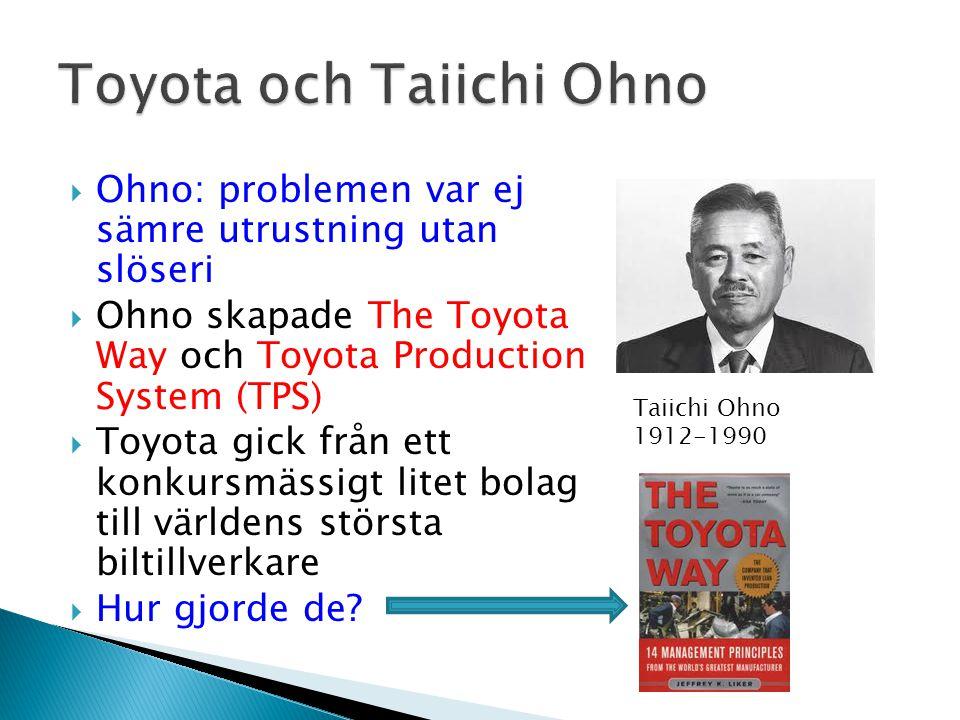 Toyota och Taiichi Ohno