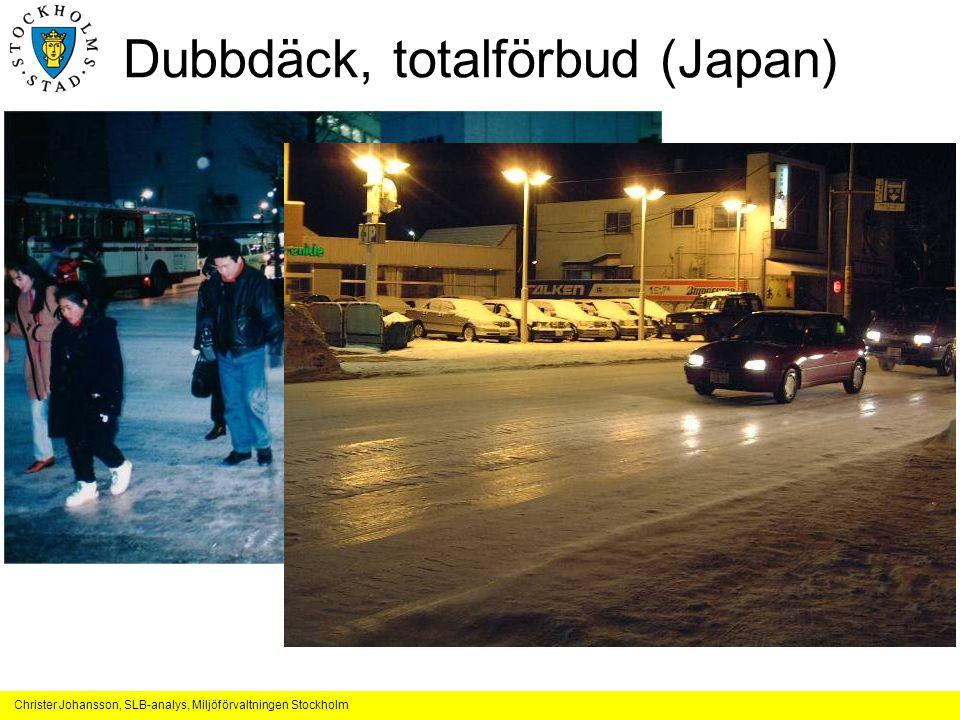 Dubbdäck, totalförbud (Japan)