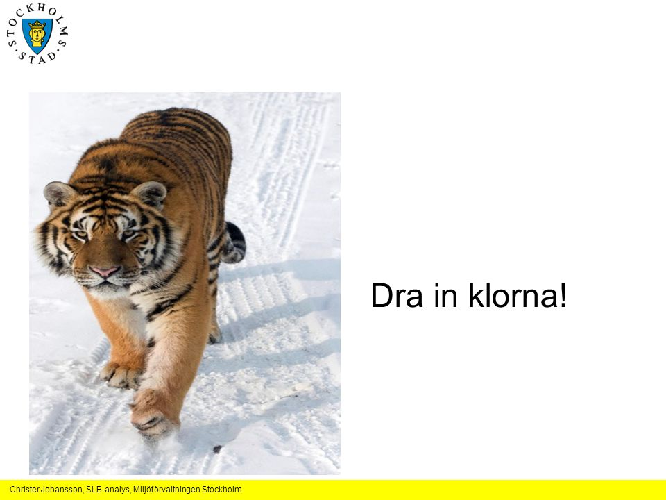 Dra in klorna!