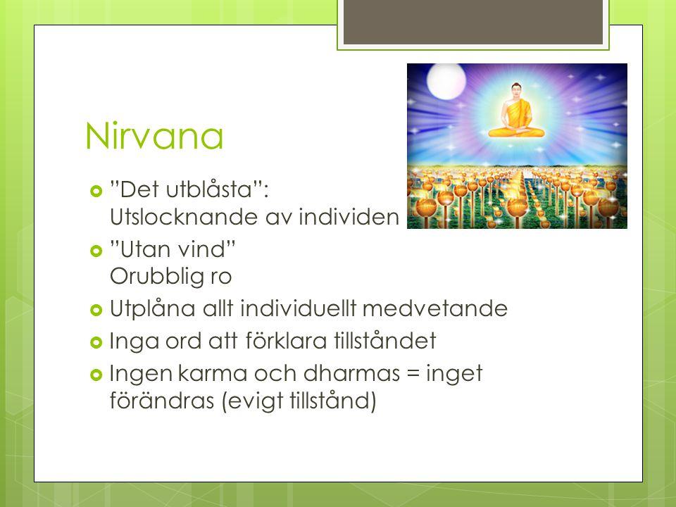 Nirvana Det utblåsta : Utslocknande av individen