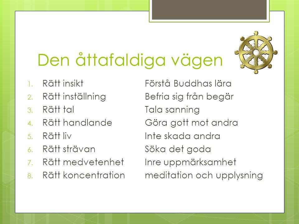 Den åttafaldiga vägen Rätt insikt Förstå Buddhas lära
