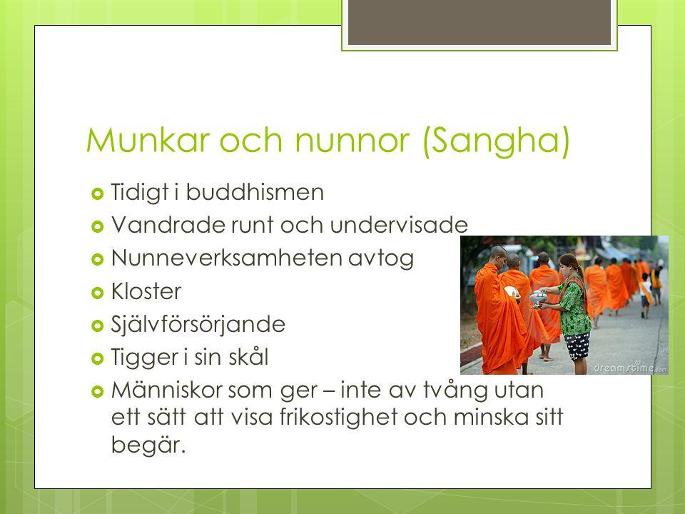Munkar och nunnor (Sangha)
