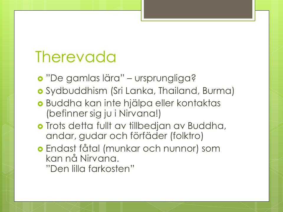 Therevada De gamlas lära – ursprungliga