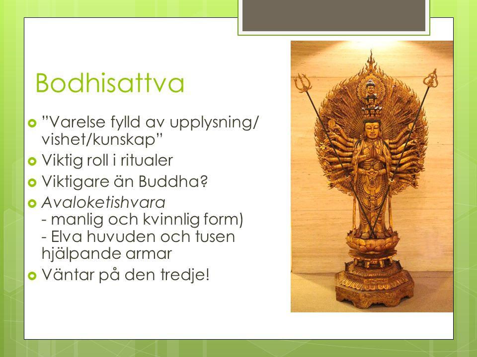 Bodhisattva Varelse fylld av upplysning/ vishet/kunskap
