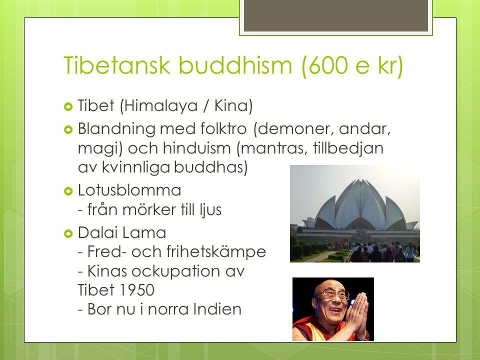 Tibetansk buddhism (600 e kr)