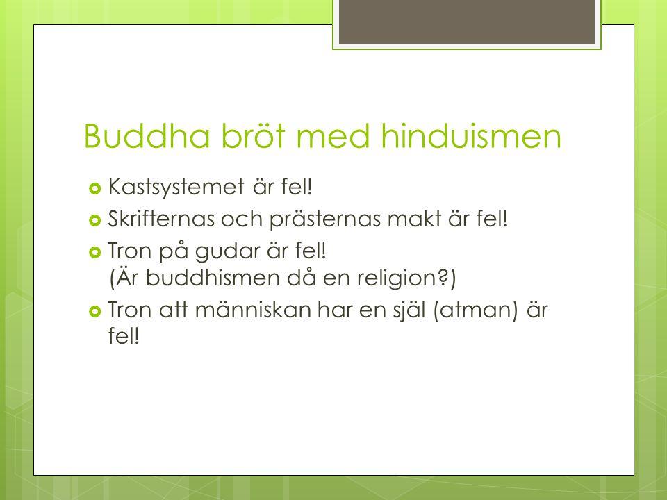 Buddha bröt med hinduismen