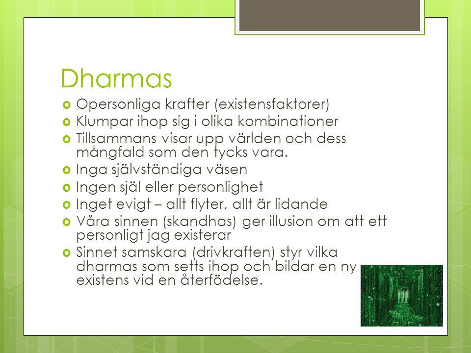 Dharmas Opersonliga krafter (existensfaktorer)