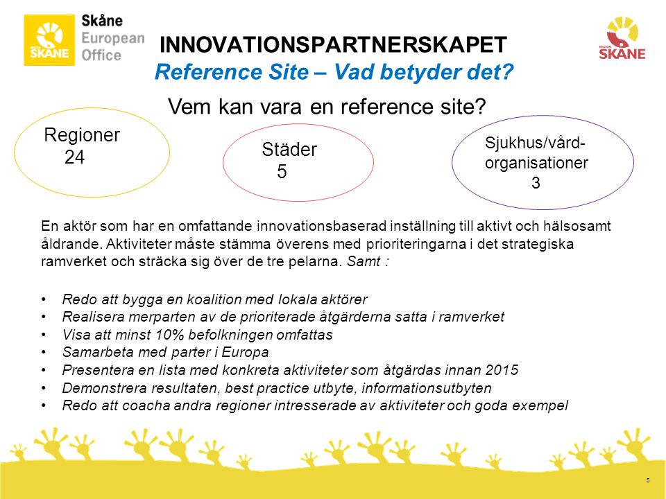 INNOVATIONSPARTNERSKAPET Reference Site – Vad betyder det
