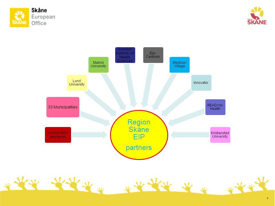 Region Skåne EIP partners