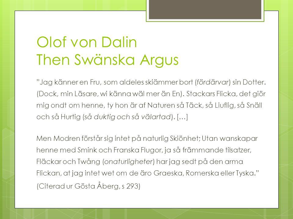 Olof von Dalin Then Swänska Argus