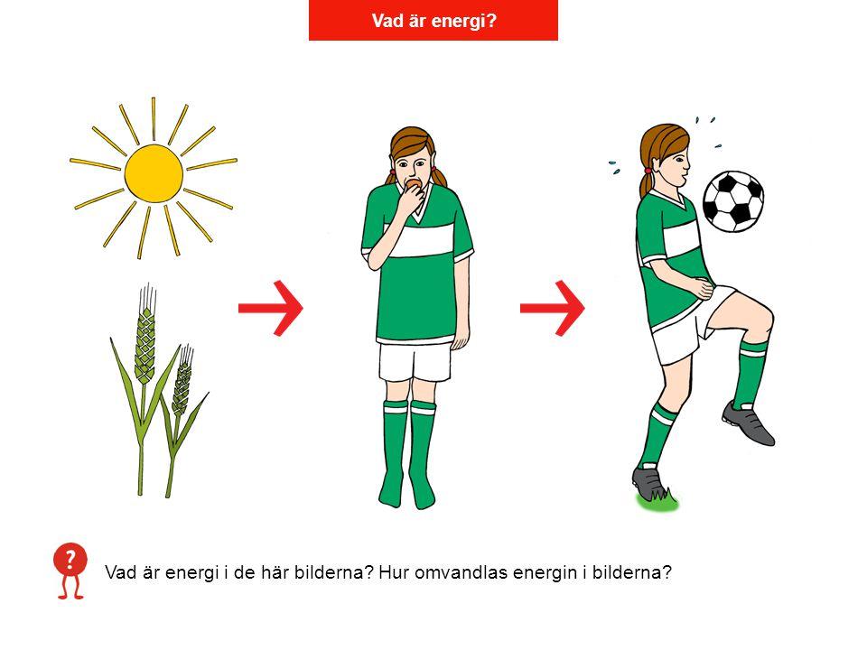 Vad är energi i de här bilderna Hur omvandlas energin i bilderna