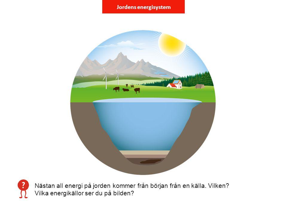 Jordens energisystem Nästan all energi på jorden kommer från början från en källa.