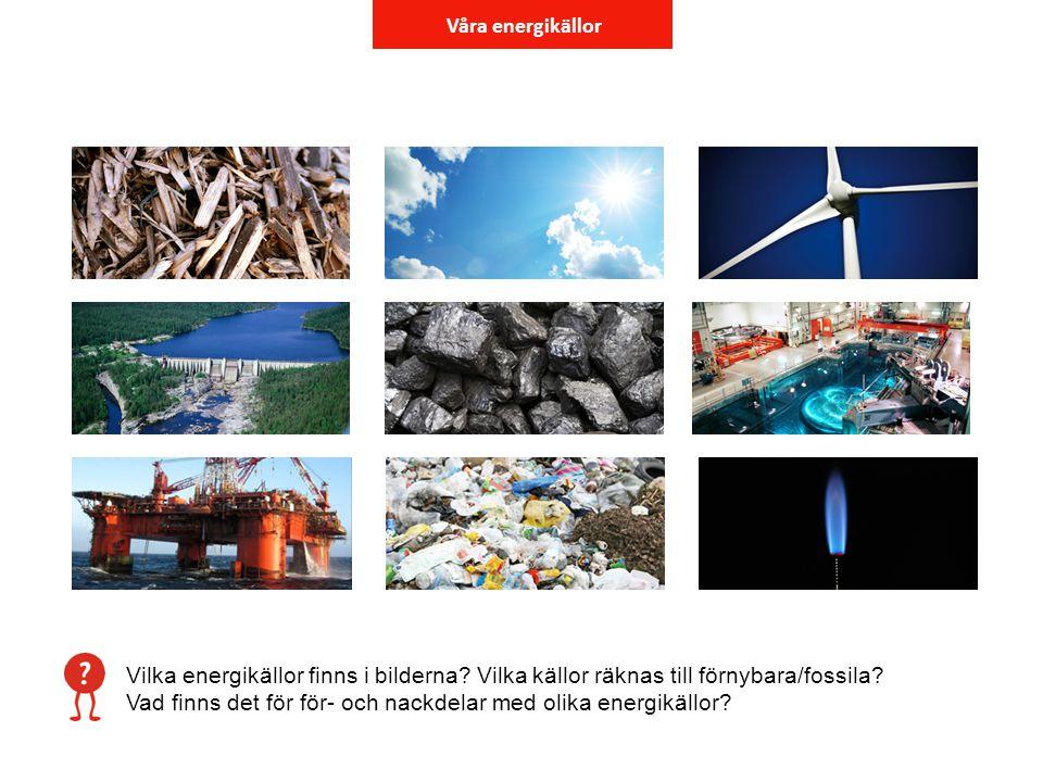 Våra energikällor