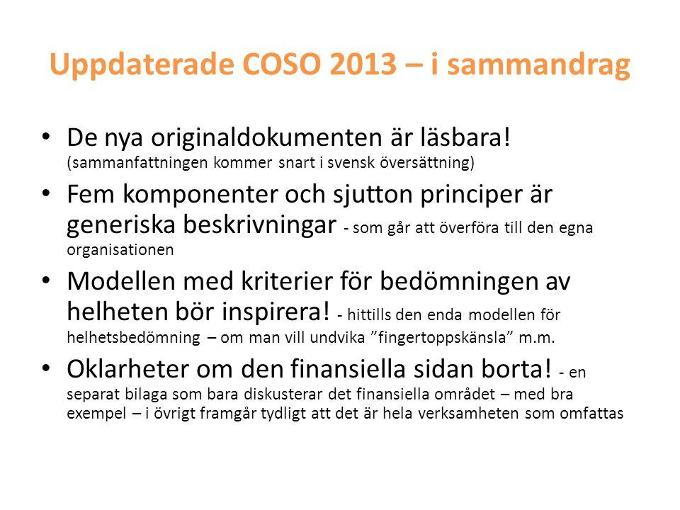 Uppdaterade COSO 2013 – i sammandrag